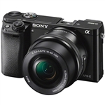 Sony Alpha 6000 Mirrorless Digital Camera with 16-50mm Lens (Black)
