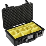 Pelican 1525AirWD Carry-On Case (Black, with Dividers)