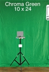 GREEN CHROMA KEY 10ft x 20ft BACKGROUND