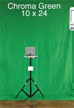 10ft X24ft  GREEN CHROMA KEY BACKGROUND