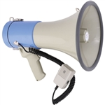 Polsen MP-25 25W Megaphone with Siren, MP3 Player and Detachable Microphone