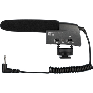 Sennheiser MKE 400 Compact Video Camera Shotgun Microphone