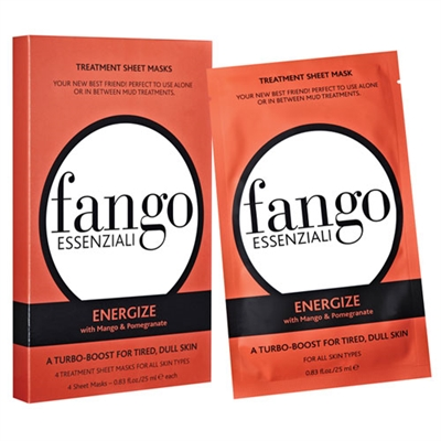 Borghese Fango Essenziali Energize Treatment Sheet Masks 4pc