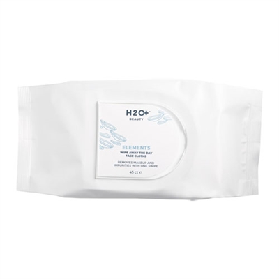 H2O Plus Elements Wipe Away The Day Face Cloths 45ct