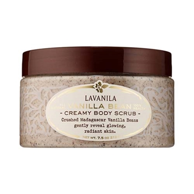 Lavanila All Natural Vanilla Bean Creamy Body Scrub 7.5oz...