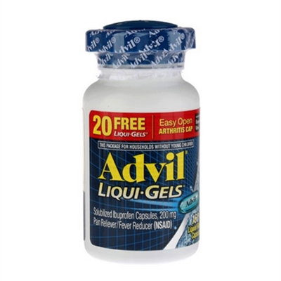Advil Liqui-Gels Pain Reliever Fever Reducer 180 Count