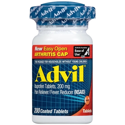 Advil Pain Reliever Fever Reducer 200 Count Coated Tablets