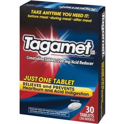 Tagamet Heartburn and Acid Reducer 30 Tablets