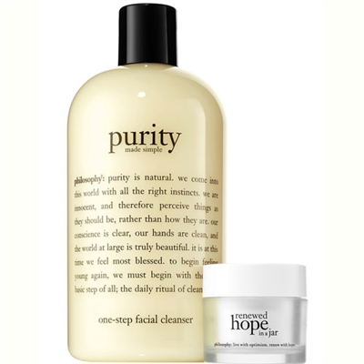 philosophy Cleanse Glow and Go 2 Piece Set