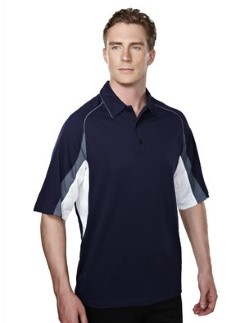 Tri-Mountain 018 Mens Thunder Colorblock Pique Polo Shirts