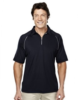 Tri-Mountain 409 Mens Huntington Ultra Cool 1/4 Zip Polo Shirts