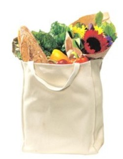 Port & Company Grocery Tote Bags B100. Embroidery available. Same Day Shipping available on blanks. Quantity Discounts. No Minimum Purchase Required.