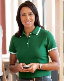 Chestnut Hill CH113W Womens Tipped Performance Plus Pique Polo Shirts. Up to 25% Off. Free Shipping available.
