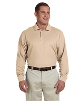Devon & Jones D110 Men's Pima Piqué Long-Sleeve Polo Shirt