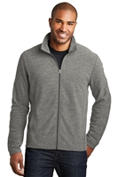 Port Authority F235 Heather Microfleece Full-Zip Jackets
