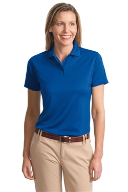 Port Authority L497 Ladies Poly-Bamboo Charcoal Blend Pique Polo Shirts