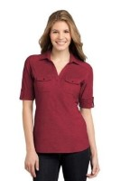 Port Authority Ladies Oxford Pique Double Pocket Polo L557