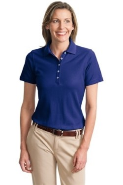 Port Authority L800 Ladies EZCotton Pique Sport Shirt. Up to 25% Off. Free Shipping available.