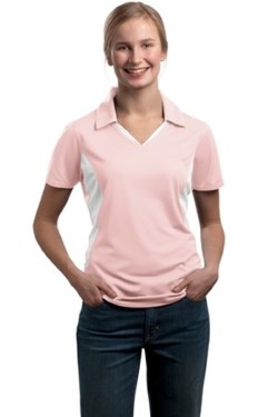 Sport-Tek LST655 Ladies Side Blocked Micropique Sport-Wick Polo Shirts. Up to 25% Off. Free Shipping available.
