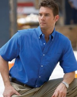 Harriton Mens Short Sleeve Stain Release Oxford Shirts M600S. Embroidery available. Quantity Discounts. Same Day Shipping available on Blanks. No Minimum Purchase Required.