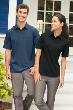 Port Authority Mens S650 Ultra Stretch Pocket Polo Shirts