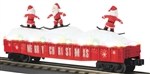 Christmas-red_MTH gondola with dancing santas_30-72194_3Rail