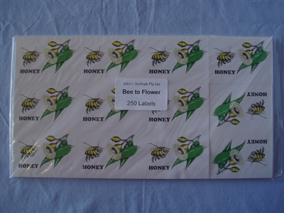 Bee to Flower Labels pack of 250