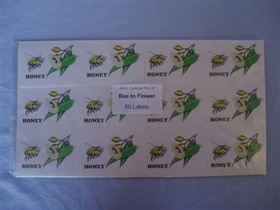 Bee to Flower Labels pack of 50