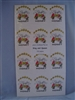 Dancing Bees Labels pack of 100