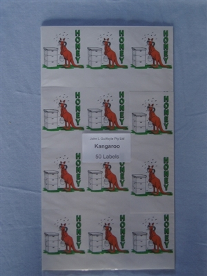 Kangaroo Labels pack of 50