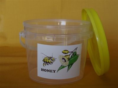 1kg Bucket with lid, handle and label each