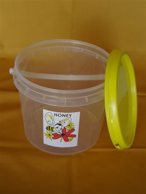 3kg Bucket with lid, handle and label pack of 200