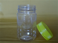 500 gm Plastic Jar with lid and label pack of 50