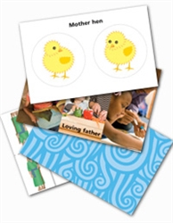 Wee Wonder Bible Activity Cards 12: Word pictures for God
