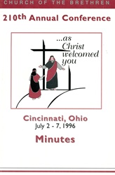 1996 Annual Conference Minutes: As Christ Welcomed You
