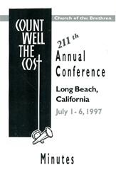 1997 Annual Conference Minutes: Count Well the Cost