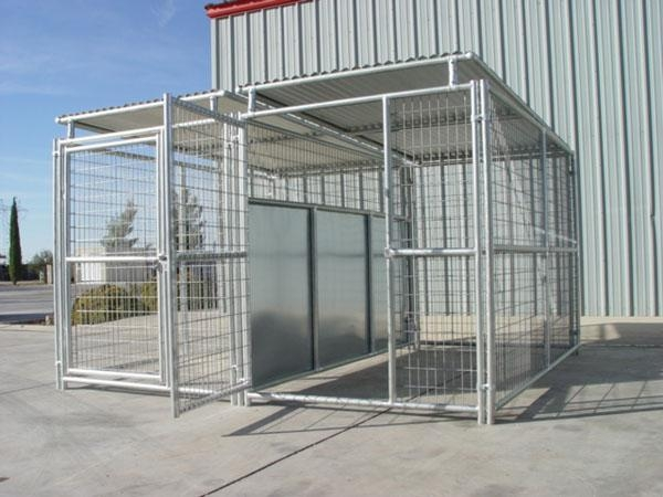 Dog Kennels And Shelters : Run x dog kennel w roof shelters fight guard divider