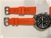 ORANGE CAPTAIN WILLARD 6105 rubber strap aka chocolate bar
