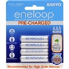 SANYO ENELOOP AAA 4 PACK RECHARGEABLE BATTERIES