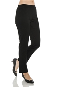 Side Zip, No Waist Band Tapered Ankle Pant Style 1001