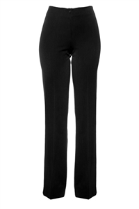 1018 Straight-leg, flat front pants, no waistband, hidden front zip