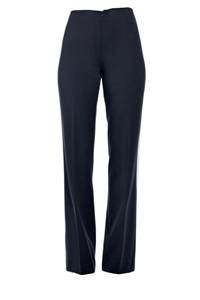14018 Straight-leg, flat front pants, no waistband,
