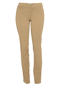 Cotton Twill Stretch Slim-Fit Jeans | Mocha