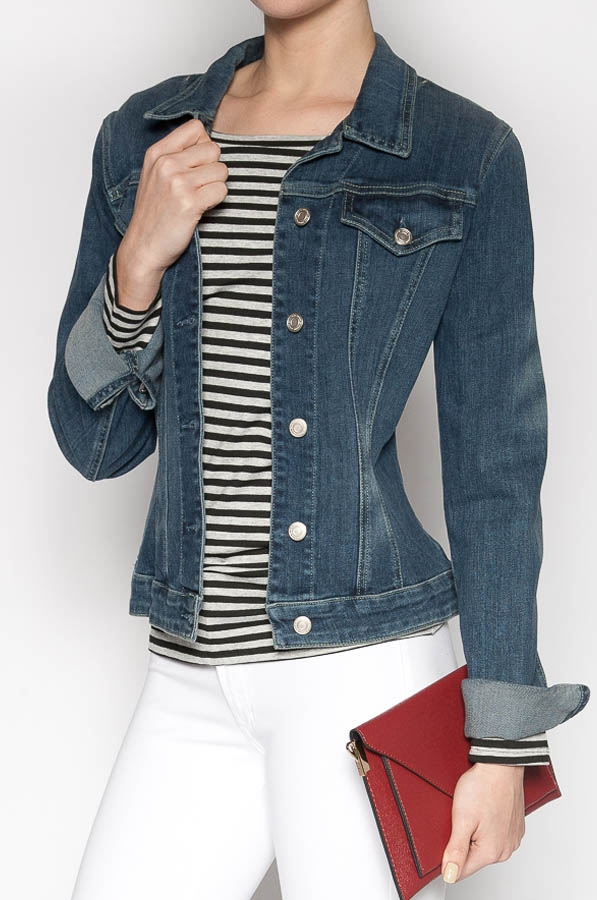 Classic Stretch Denim Jean Jacket
