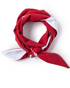 Red/White Skinny Neck Scarf