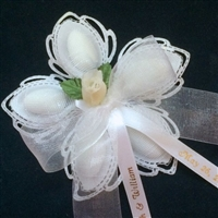Aurelia Ribbon Flower with 5 Jordan Almonds