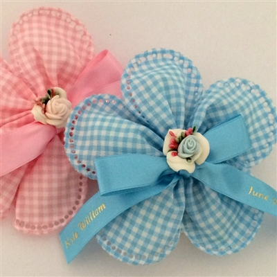 Gingham Baby Shower Favors