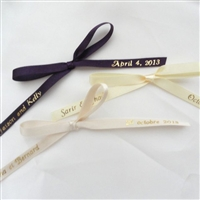 Personalized Ribbons for ConfettiFlowers.com Favors