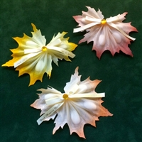 Cilento Autumn Leaf Ribbon Flower
