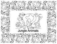 Digital Quilting Design Jungle Animals Border Set by Anne Bright.